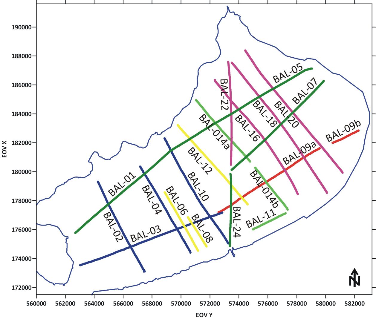 balaton vizi térkép Balatoni többcsatornás szeizmikus mérések balaton vizi térkép